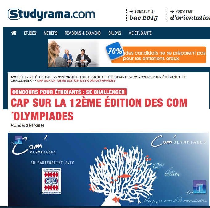 PARUTION STUDYRAMA 1 copie